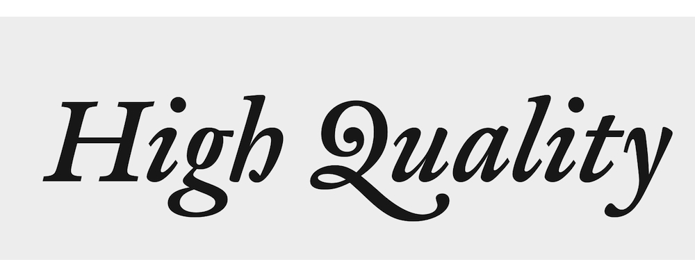 High Quality Fonts